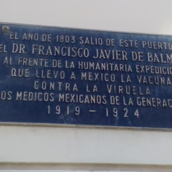 Balmis-placa_de_homenaxe_dos_medicos_mexicanos