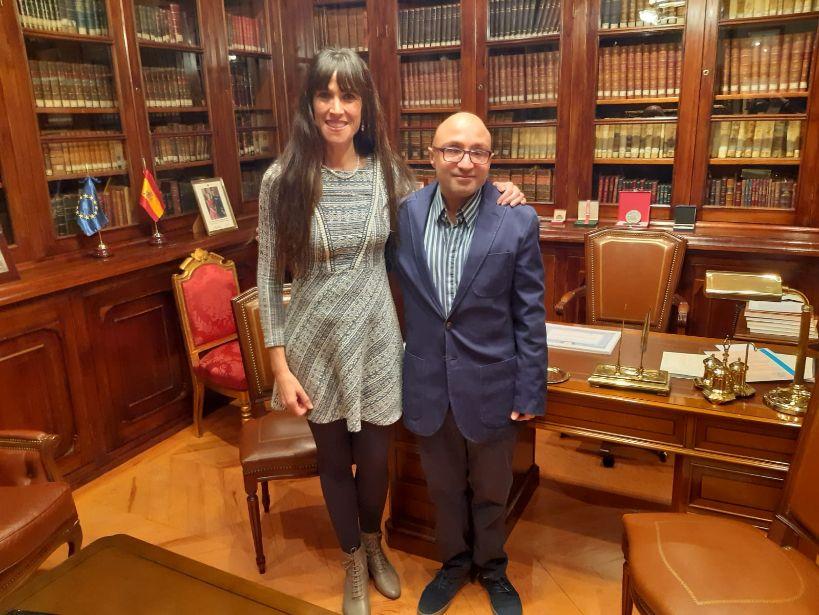 La Presidenta de la Matritense con José Vidal