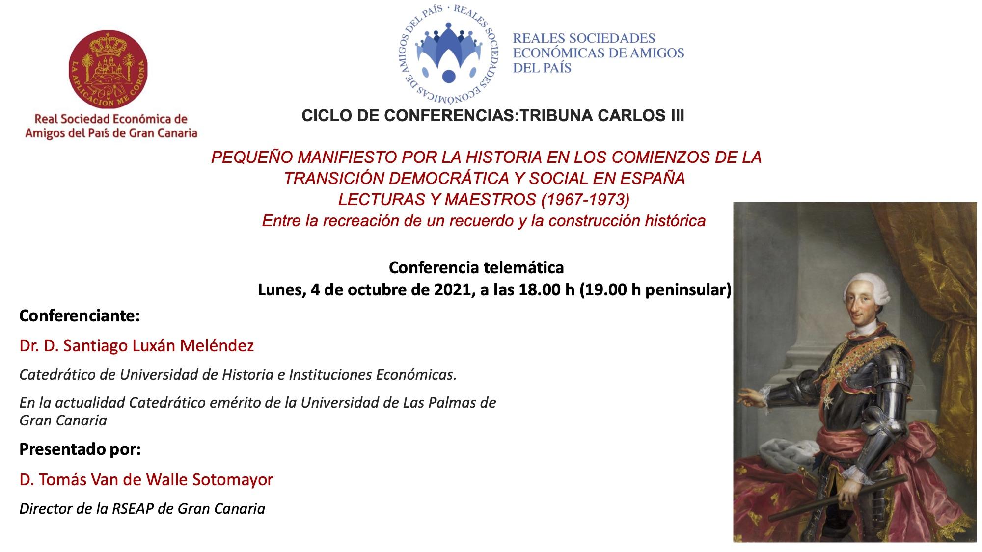 Cartel anunciador de la conferencia